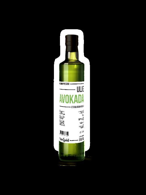 Nutrigold ekološko hladno stisnjeno avokadovo olje, 250ml.