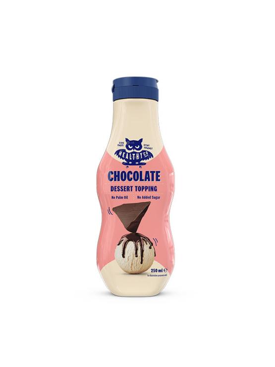 HealthyCo čokoladni preliv brez dodanega sladkorja v dozirni plastiči embalaži, 250ml.