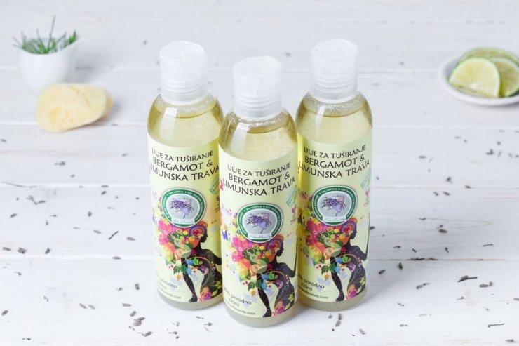 Mala od Lavande Olje za prhanje bergamot / limonska trava v plastični embalaži, 220ml.