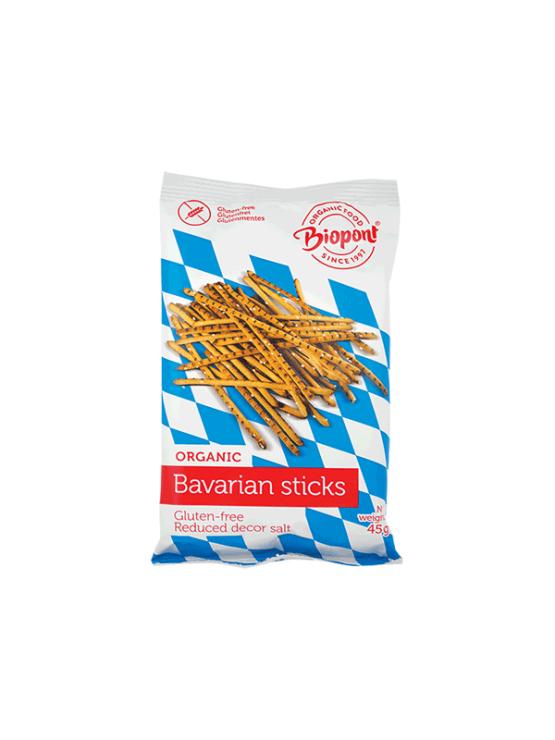 Biopont ekološke bavarske palčke brez glutena v plastični embalaži, 45g.