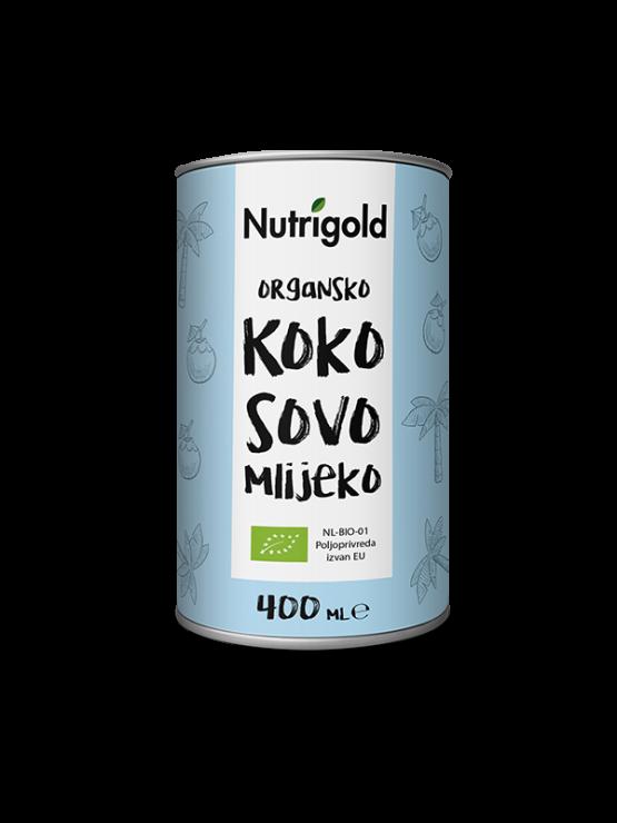 Nutrigold ekološko kokosovo mleko v pločevinki, 400ml.