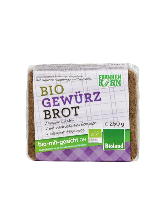 Franken Korn ekološki kruh z začimbami v prozorni pastični embalaži, 250g.