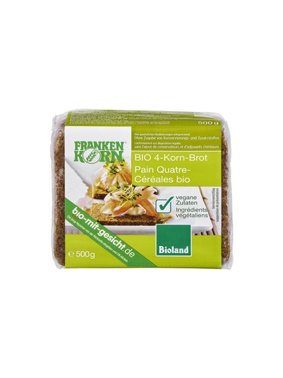 Franken Korn ekološki kruh iz 4 žit v prozoeni plastični embalaži, 500g.