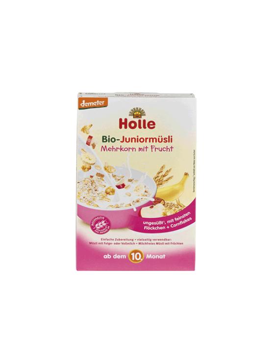 Holle ekološki instant müsli s koruznimi kosmiči in sadjem v kartonski emblaži, 250g.