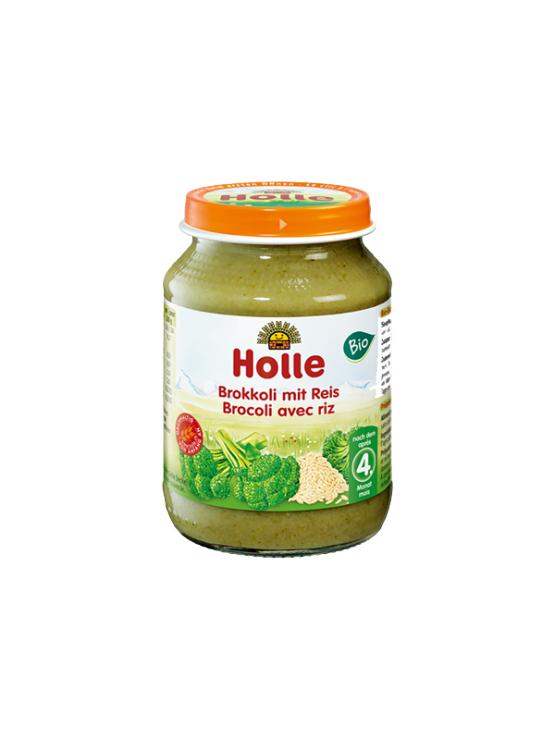 Holle ekološka kašica z brokulijem in rižem v kozarcu, 190g.
