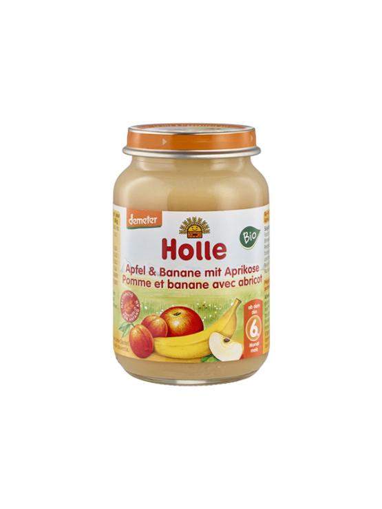 Holle ekološka kašica z jabolkom, banano in breskvo v kozarcu, 190g.
