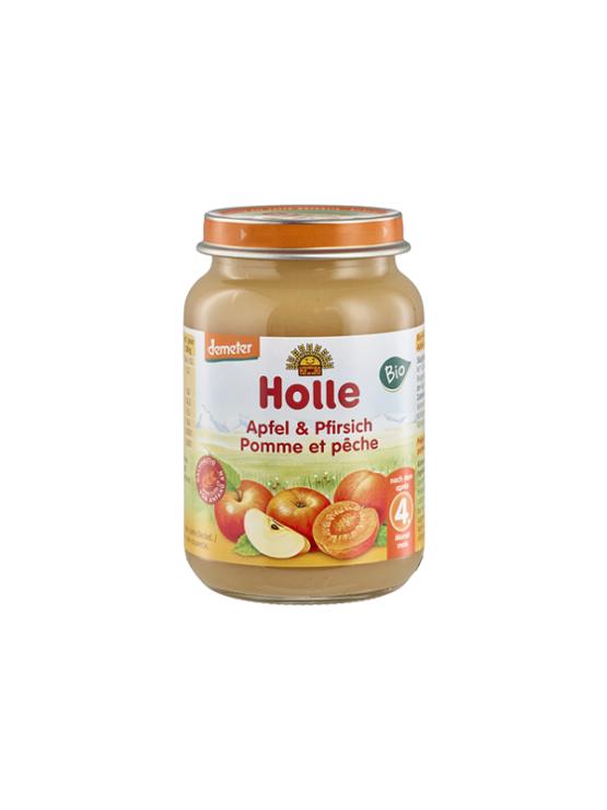 Holle ekološka kašica iz breskve in jabolka v kozarcu, 190g.