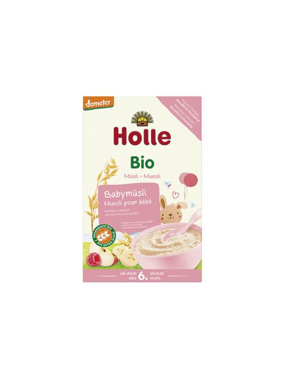 Holle ekološki otroški müsli s sadjem v kartonski embalaži, 250g.
