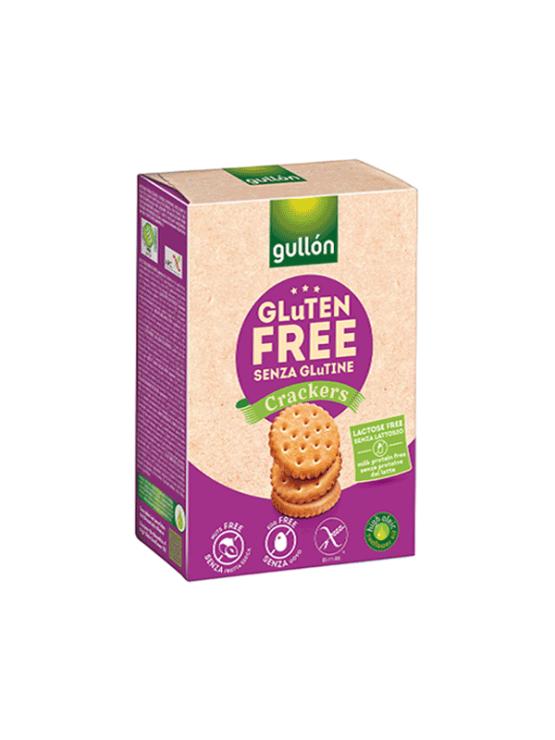Gullon krekerji brez glutena v kartonski embalaži, 200g.