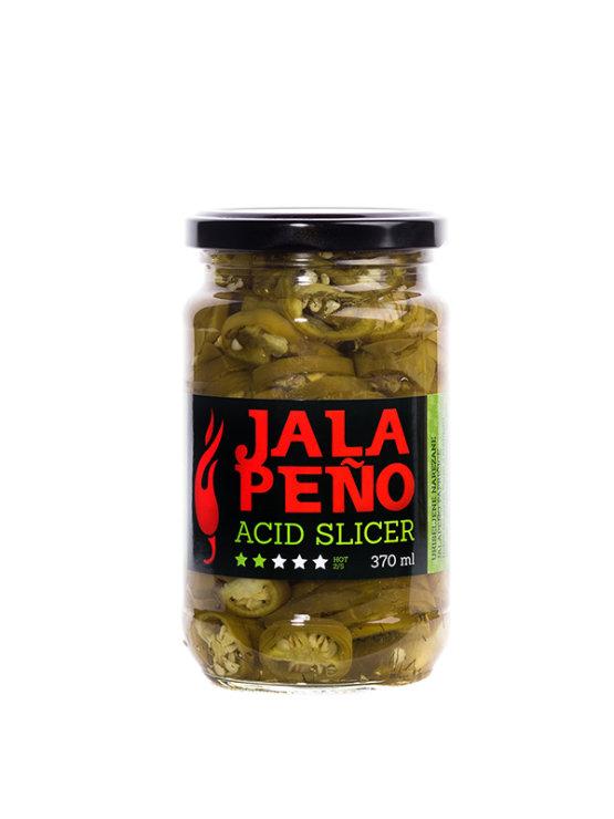 Volim Ljuto Acid Slicer narezana jalapeno paprika v kozarcu, 370ml.