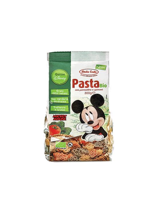 Probios ekološke Mickey Mouse Disney testenine Špinača & Paradižnik & Durum v plastični embalaži, 300g.