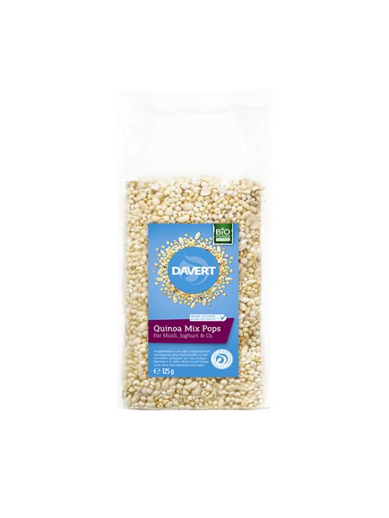 Davert ekološki kvinojini napihnjenci v prozorni plastični embalaži - 125g Davert