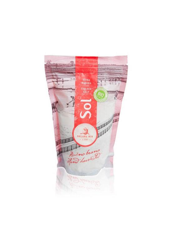 Solana Nin ekološka drobna morska sol v plastični embalaži, 600g.