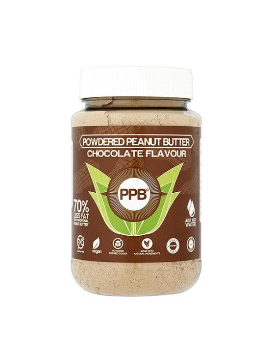 PPB Arašidovo maslo v prahu s čokolado v plastičnem kozarcu, 180g.