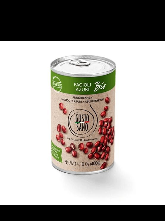 Gusto Sano ekološki azuki fižol v pločevinki 400g.