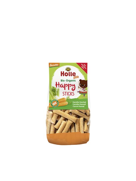 Holle ekološke palčke s korenčkom v prozorni plastični embalaži, 100g.