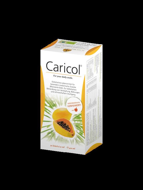 AllergoSan Caricol Papaja, 20 vrečk x20g v papirnati embalaži.