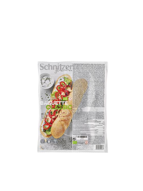 Schnitzer ekološki brezglutenski kruh Baguette Classic v plastični embalaži, 360g.