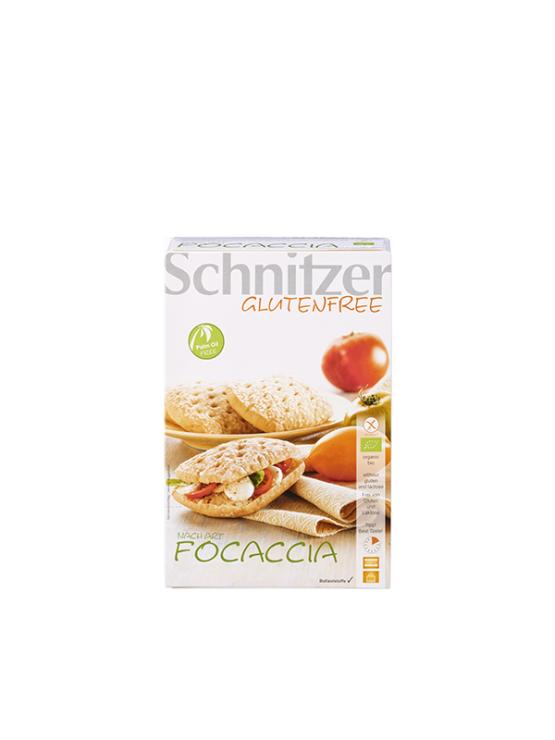 Schnitzer Focaccia ekološki brezglutenski kruh v kartonski embalaži, 220g.