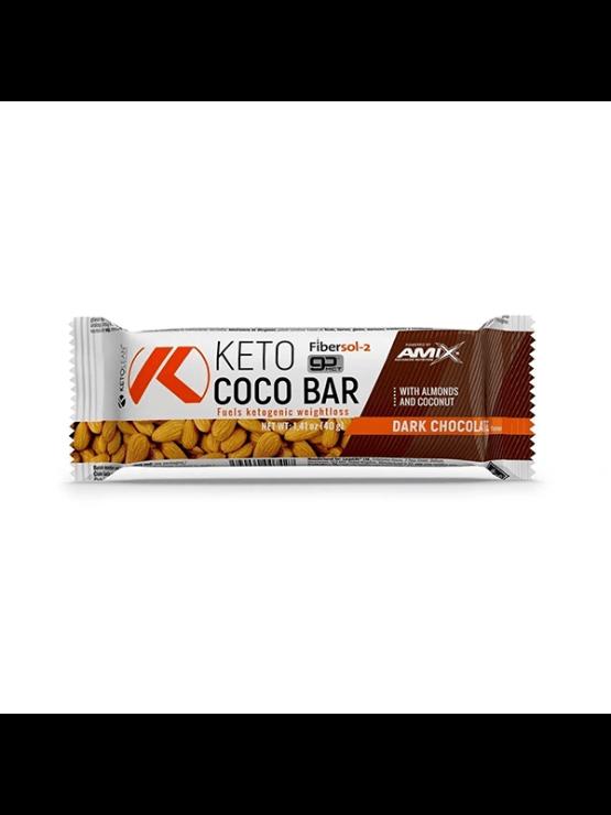 Amix Keto Lean beljakovinska ploščica v plastični embalaži, 40g.