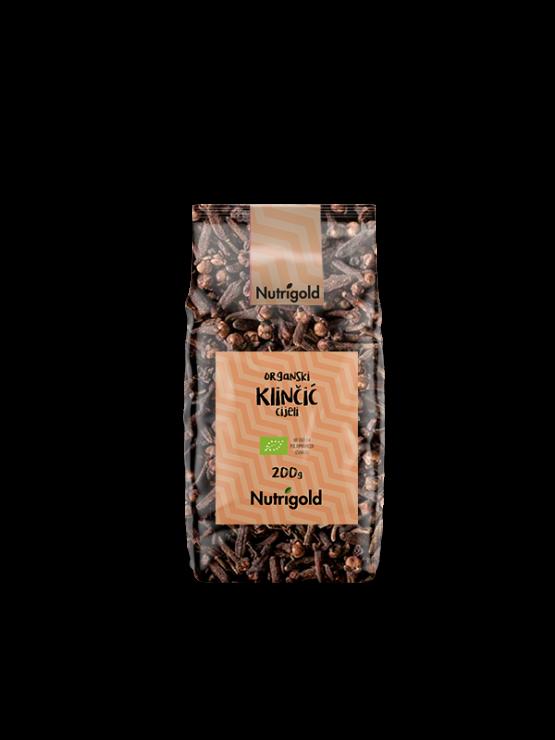 Nutrigold ekološki klinčki v plastični embalaži, 200g.