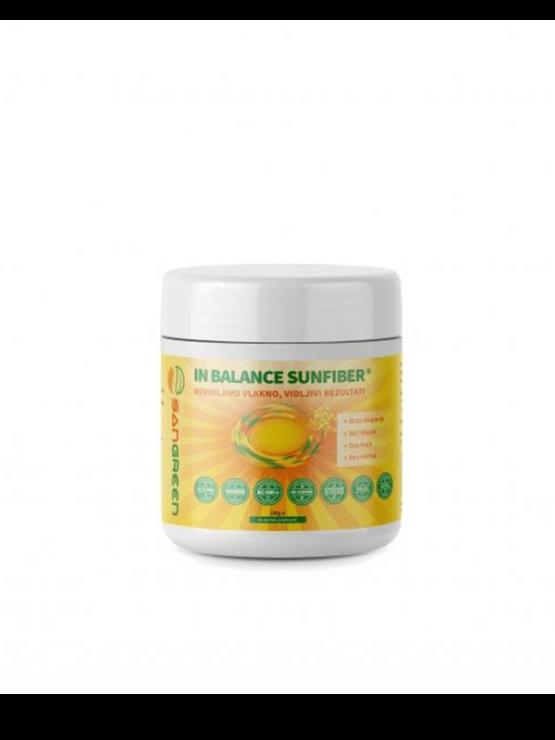 Sangreen In Balance Sunfiber Prehranske vlaknine v beli plastični embalaži, 180g.