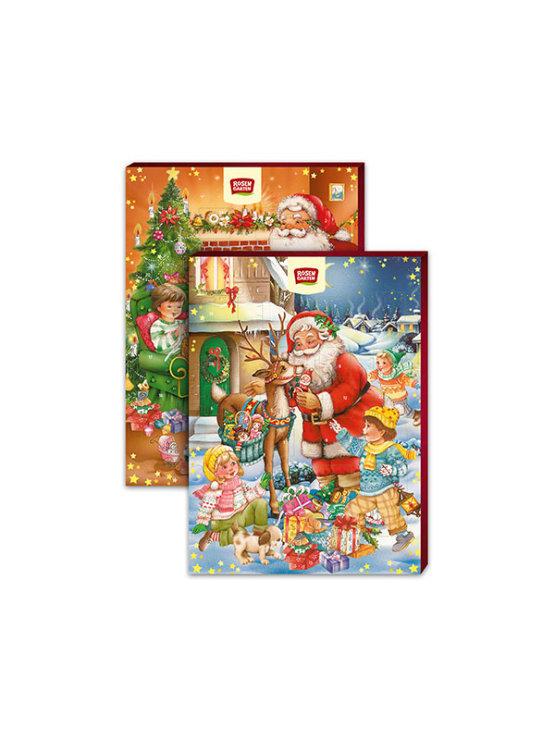 Rosengarten ekološki adventni koledar s 24 čokoladicami v 75 gramskem božičnem pakiranju.