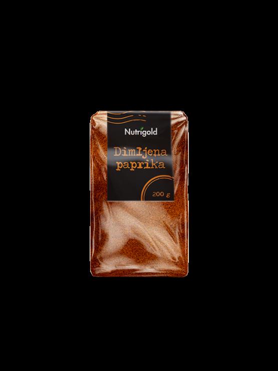 Nutrigold dimljena paprika v prahu v prozorni plastični embalaži, 200g