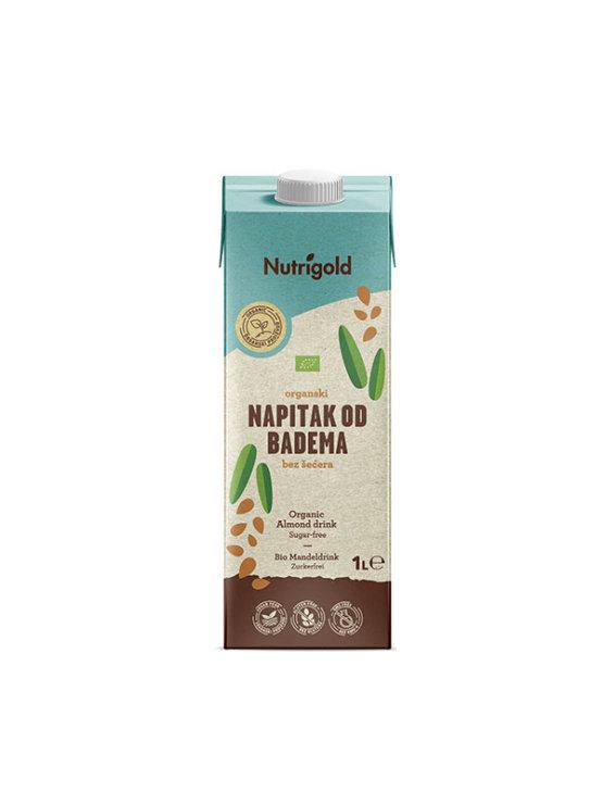 Nutrigold ekološki mandljev napitek brez sladkorja v tetrapaku, 1000ml.