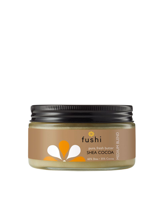 Fushi Karite – Shea in kakavovo maslo v stekleni embalaži, 200g.