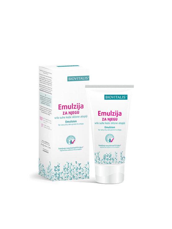 Biovitalis emulzija za nego suhe kože nagnjene k atopiji v plastični tubi, 150ml.