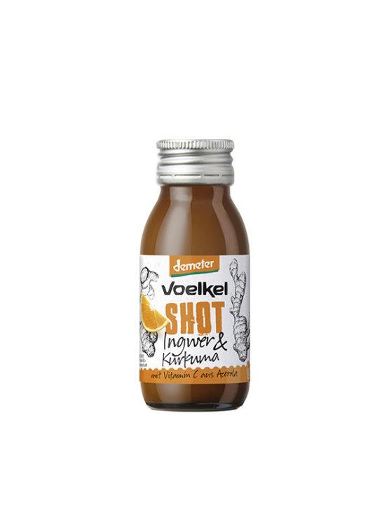 Voelkel ekološki shot z ingvejrem in kurkumo v steklenički, 60ml.