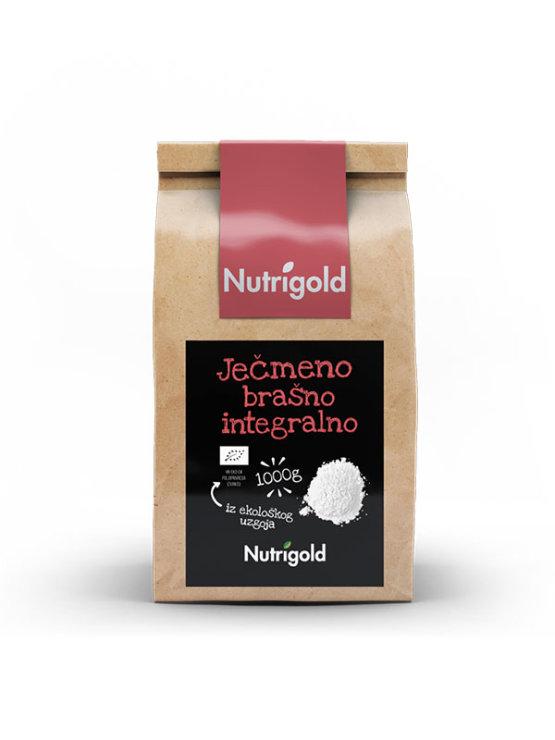 Nutrigold ekološka ječmenova moka v rjavi papirnati embalaži, 1000g.