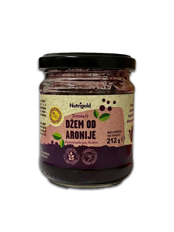 Nutrigold ekološki aronijin džem v kozarcu, 212g.