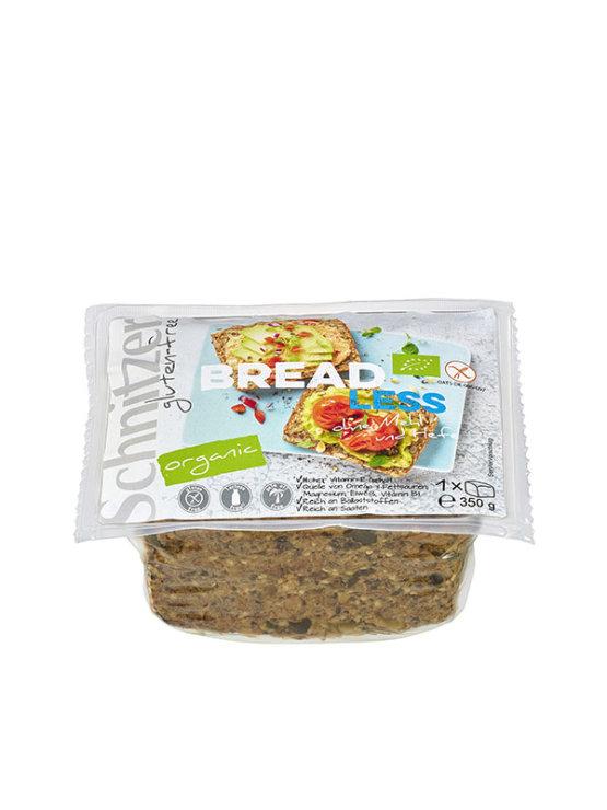 Schnitzer brezglutenski kruh brez moke in brez kvasa v prozorni plastični embalaži, 350g.