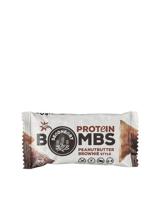 Seedheart ekološka beljakovinska bomba z brownijem in arašidovim maslom v lastični embalaži, 50g.