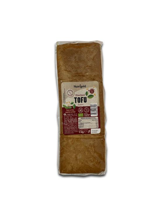 Nutrigold ekološki dimljeni tofu v prozorni vakuumirani emblaži, 1000g.