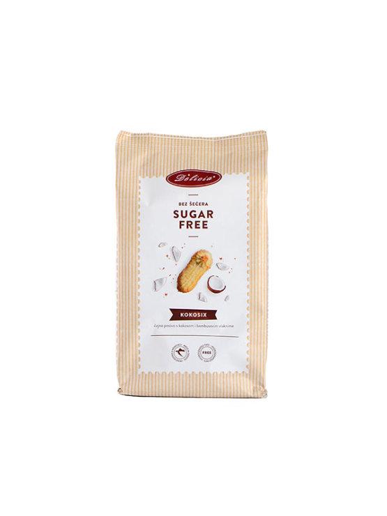 Delicia Kokosix piškoti s kokosom in bambusovimi vlakninami Brez sladkorja v papirnati embalaži, 200g.