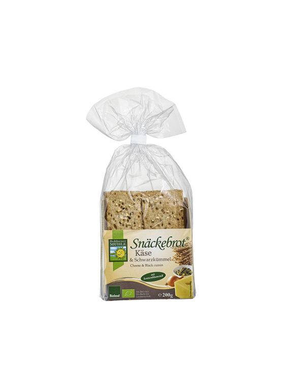 Bohlsener Muhle ekološki hrustljavi kruhki s sirom in kumino v prozorni plastični embalaži, 200g.