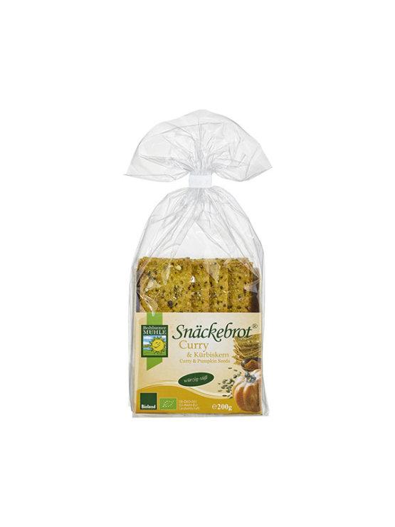 Bohlsener Muhle ekološki hrustljavi kruhki s karijem in bučo v prozorni plastični embalaži, 200g.