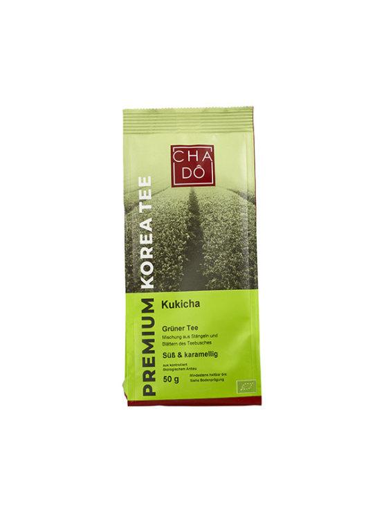 Ekološi Cha Dô Kukicha Zeleni čaj v zeleni plastični embalaži, 50g.