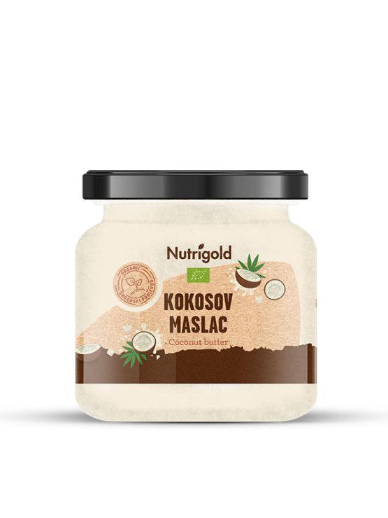 Nutrigold ekološko kokosovo maslo v kozarcu, 300g.