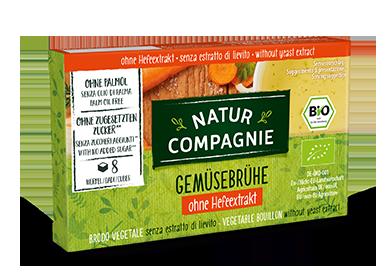 Natur Compagnie zelenjavne jušne kocke brez kvasa v kartonski embalaži, 84g.