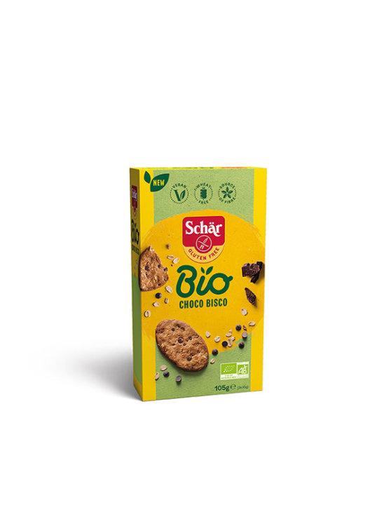 Schar Choco Bisco ekološki brezglutenski piškoti s čokolado v kartonski embalaži, 105g.