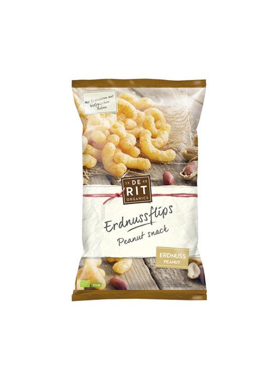 De Rit ekološki flips z arašidi v plastični embalaži, 125g.