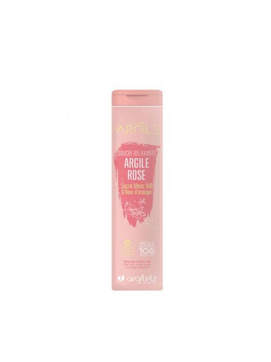 Argiletz gel za prhanje z rožnato glino in pomarančnimi cvetovi v oranžni ambalaži, 250 ml.