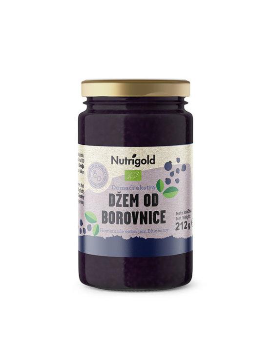 Nutrigold ekološki domači borovničev ekstra džem v kozarcu, 212 g.