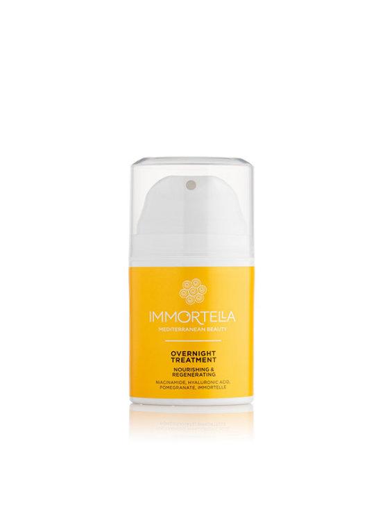 Immortella krema za obraz overnight treatment  v oranžni valjčasti embalaži, 50ml.