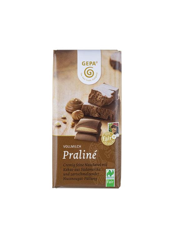 Ekološke čokoladne praline Gepa v papirnati embalaž, 100g.