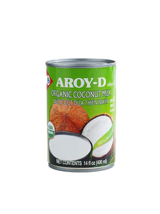 Ekološko kokosovo mleko Aroy-D z 19% maščobe v pločevinki, 400 ml.